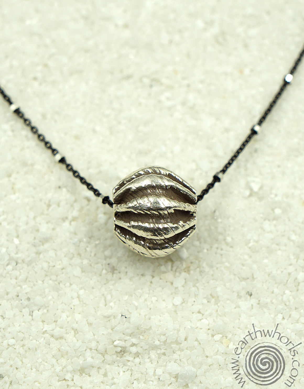 Sterling Silver Ball Charm Necklace - EarthWhorls, LLC