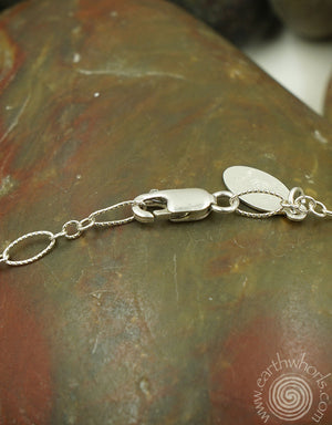 Sterling Silver Bar-Charm Necklace - EarthWhorls, LLC