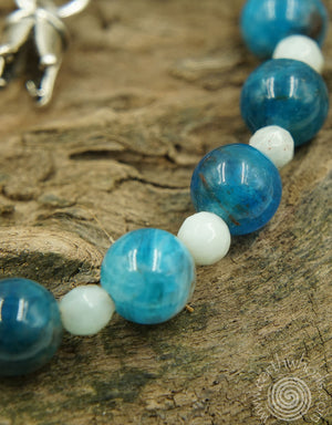 Amazonite, Apatite & Sterling Silver Bracelet - EarthWhorls, LLC