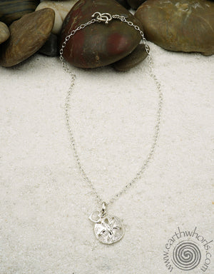 Galapagos Silver Pendant & Charm Necklace - EarthWhorls, LLC