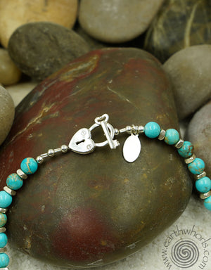 Chrysoprase & Sterling Silver Necklace - EarthWhorls, LLC