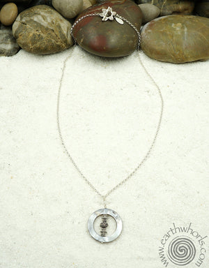 Abalone & Sterling Silver Pendant Necklace - EarthWhorls, LLC