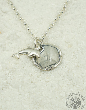 "Sterling Silver ""Touch of the Sea"" Necklace - EarthWhorls, LLC"