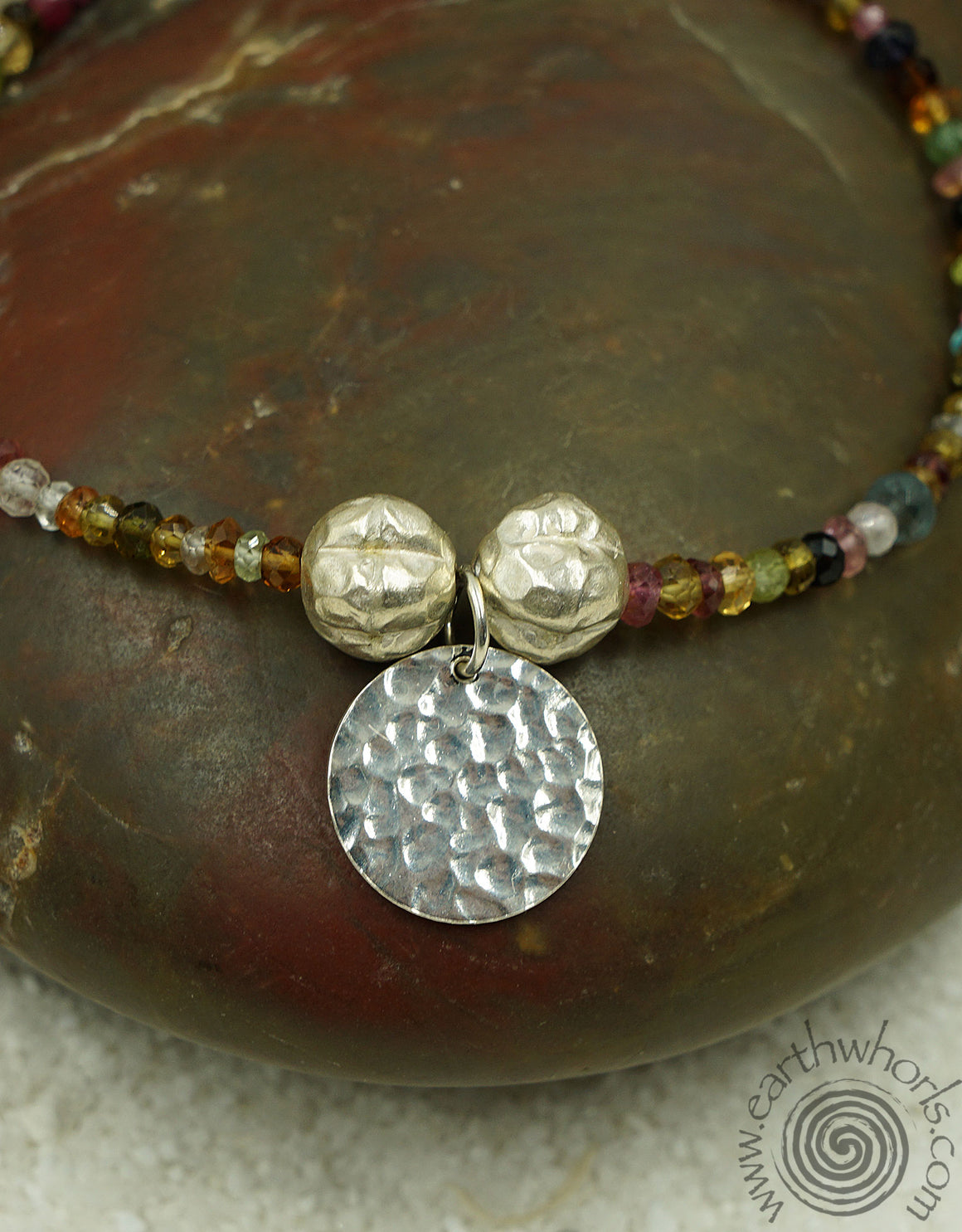 Tourmaline & Sterling Silver Bracelet - EarthWhorls, LLC