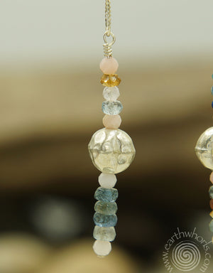Tourmaline & Sterling Silver Drop Earrings - EarthWhorls, LLC