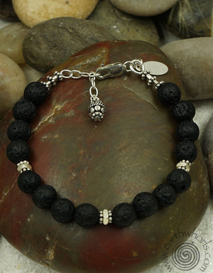 Chakra Stone & Sterling Silver Natural Stone Bracelet - EarthWhorls, LLC