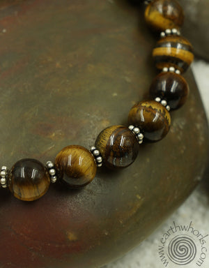 Tiger's Eye & Sterling Silver Bracelet