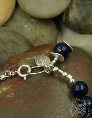 Chakra Healing Stone & Sterling Silver Fashion Bracelet - EarthWhorls, LLC