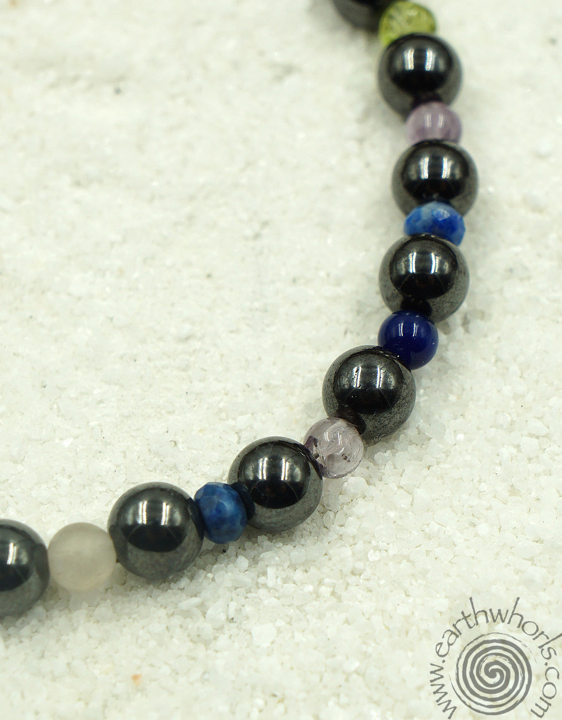 Mixed Stone & Sterling Silver Bracelet - EarthWhorls, LLC