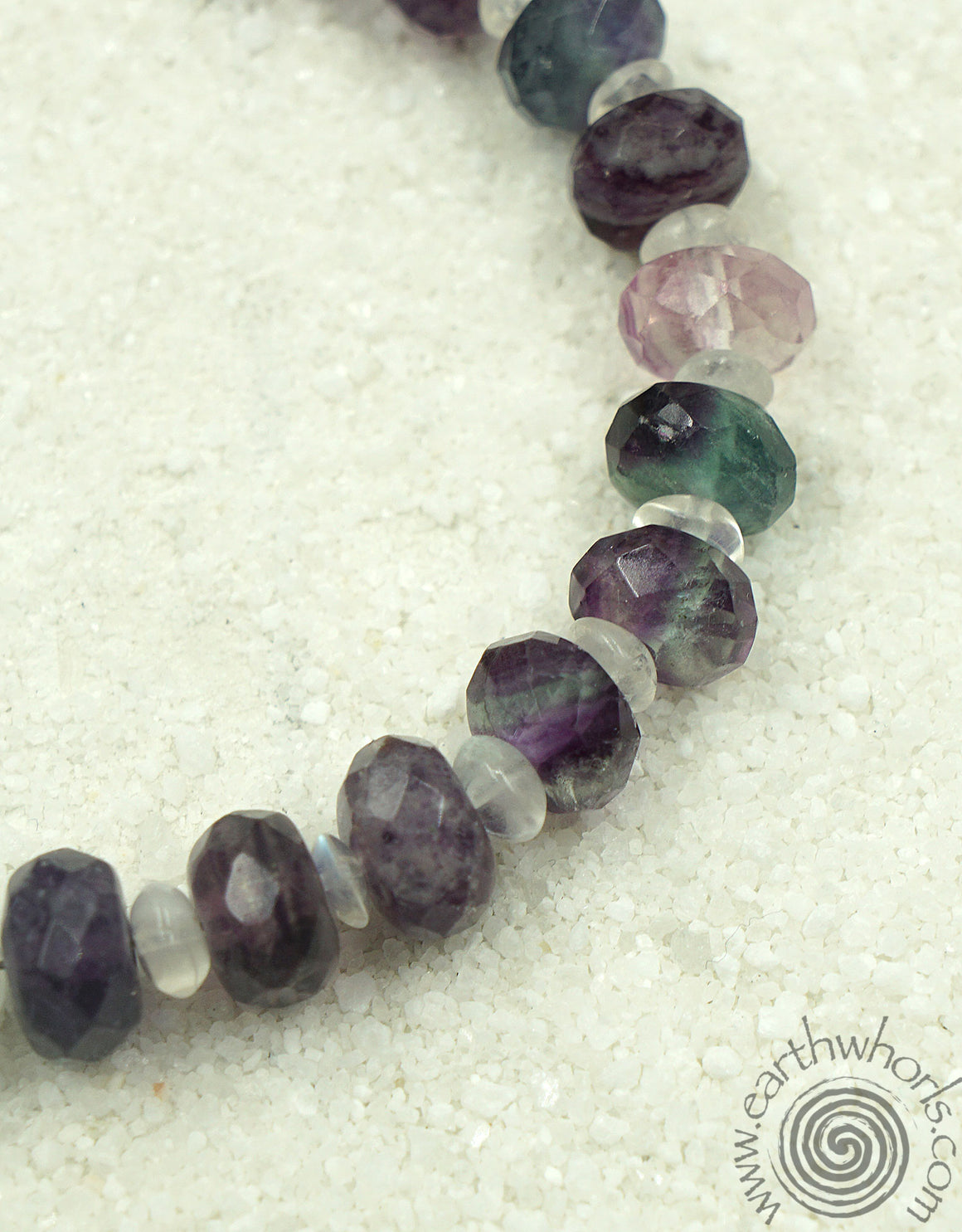 Amethyst, Mixed Stones & Sterling Silver Bracelet - EarthWhorls, LLC