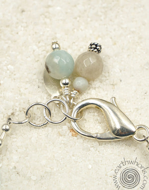 Aquamarine & Sterling Silver Bracelet - EarthWhorls, LLC