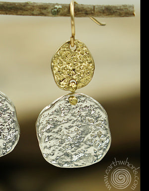 Sterling Silver Designer Earrings - EarthWhorls, LLC