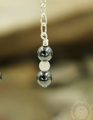 Mixed Stone & Sterling Silver Dangle Earrings - EarthWhorls, LLC