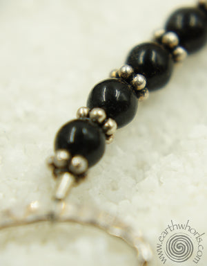Onyx, Pearl & Citrine Necklace