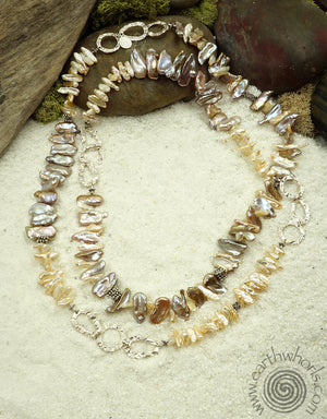 Fresh Water Pearl Necklace - EarthWhorls, LLC