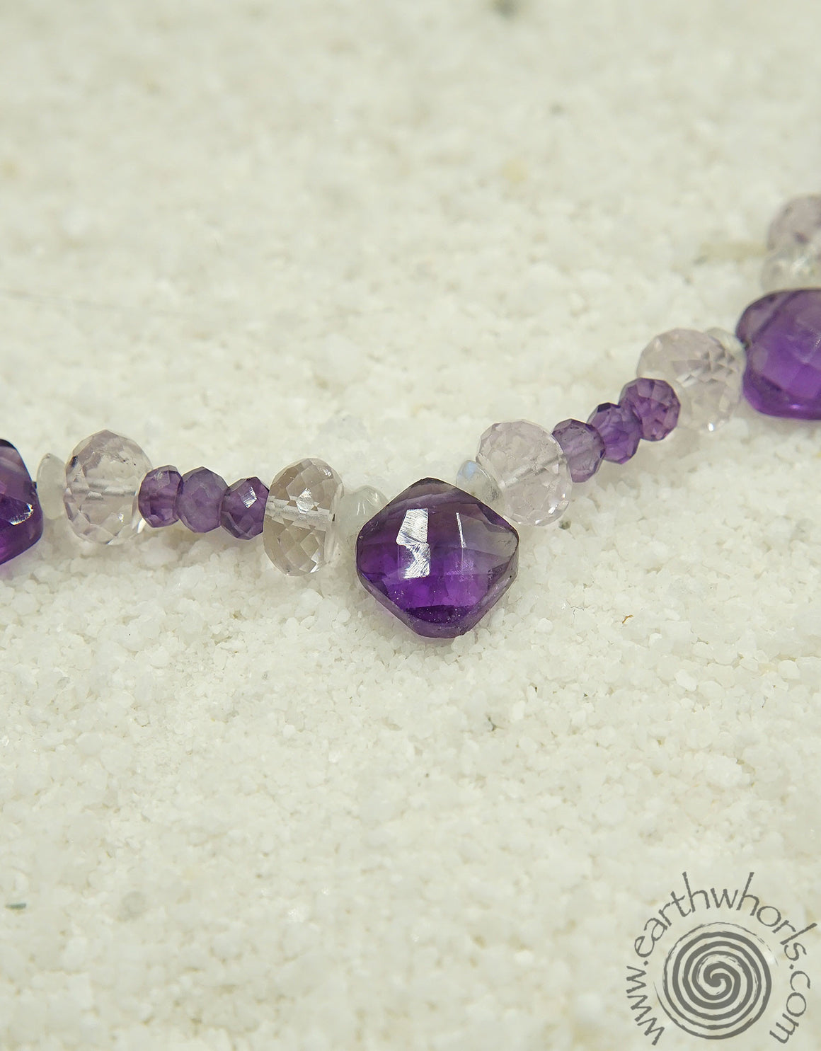 Amethyst & Moonstone Necklace - EarthWhorls, LLC