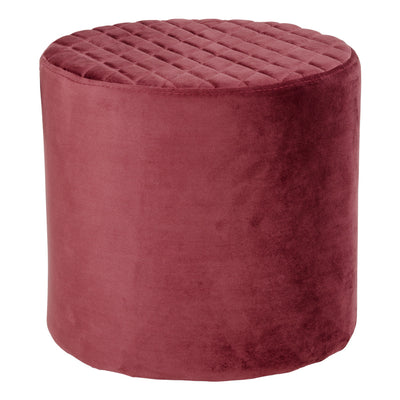 Liva velour puf bordeaux