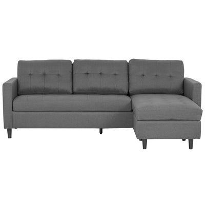 Eddie - Chaiselong Sofa - Grå (Flytbar Chaiselong)