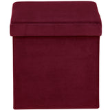 Mint puf bordeaux - velour