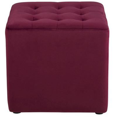Velour puf - bordeaux
