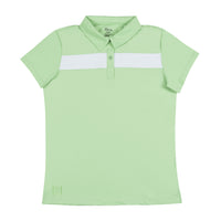 Confident 2.0 Striped Polo - Sea Foam