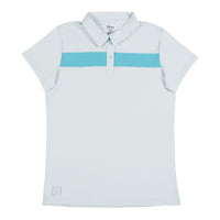 Confident 2.0 Striped Polo - Cloudy Skies