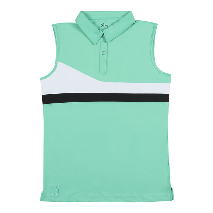 Precision 2.0 Striped Polo - Mint