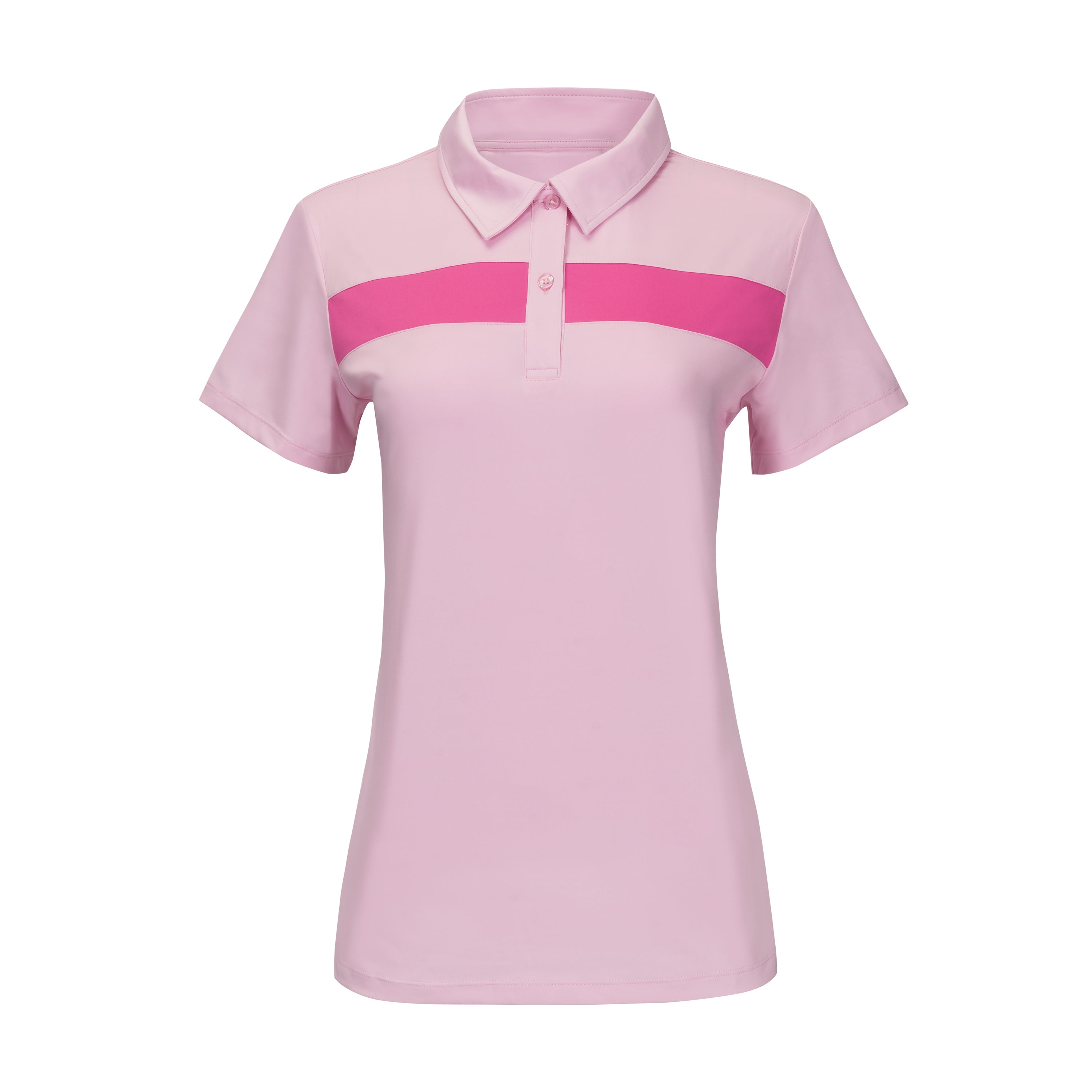 Confident 2.0 Striped Polo - Floral Pink