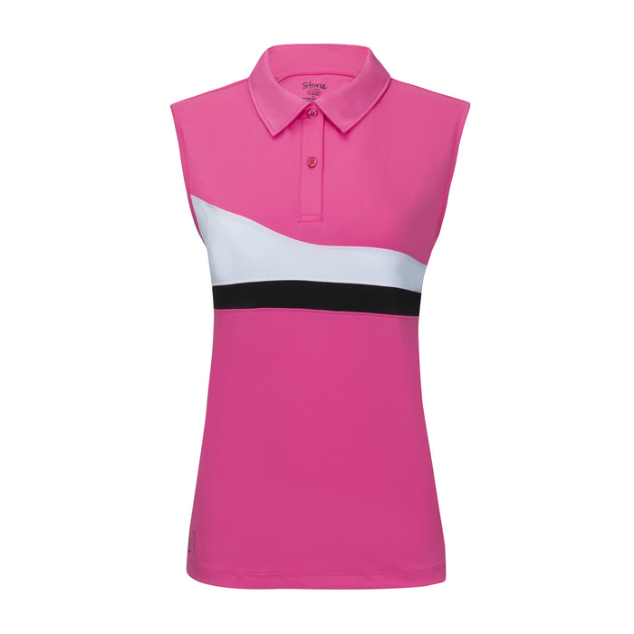 Precision 2.0 Striped Polo - Berry Pink