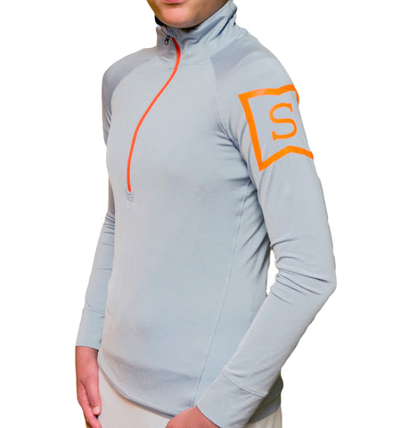 Ace Performance Half-Zip Platinum & Tangerine