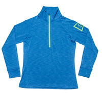 Ace Performance Half-Zip Twilight & Electric Lime
