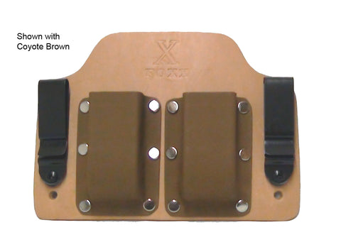 Double Mag Carrier Shown with Coyote Brown Kydex