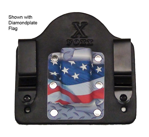 Mag Carrier Shown with Diamondplate Flag
