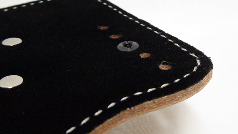 Detail of Optional Stitched Comfort Pad for Small of Back Holster