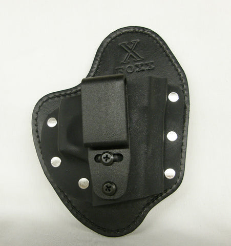 FoxX Holsters Leather /& Kydex IWB Hybrid Holster Ruger LCP Black Right Tuckable