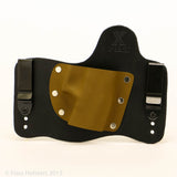 Coyote Brown Kydex Color on Black Hybird Holster