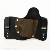 Chocolate Brown Kydex Color on Black Hybird Holster