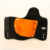 Foxx Holsters Orange Kydex Color on Black Hybird Holster