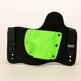Zombie Green Kydex Color on Black Hybird Holster