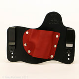 Red Hot Red Kydex Color on Black Hybird Holster