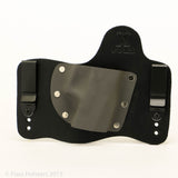 Gunmetal Grey Kydex Color on Black Hybird Holster