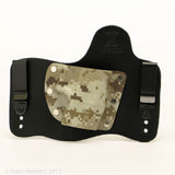 Desert Digital Camo Kydex Pattern on Black Hybird Holster