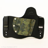 Forest Digital Camo Kydex Pattern on Black Hybird Holster