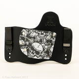Graveyeard Camo Kydex Pattern on Black Hybird Holster