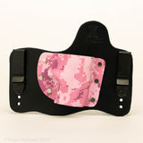 Pink Digital Camo Kydex Pattern on Black Hybird Holster