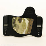 Old Skool Camo Kydex Pattern on Black Hybird Holster