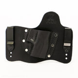 Carbon Fiber Black Kydex Pattern on Black Hybird Holster