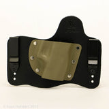 Carbon Fiber Sand Kydex Pattern on Black Hybird Holster