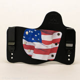 Old Glory Kydex Pattern on Black Hybird Holster