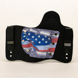 Diamondplate Flag Kydex Pattern on Black Hybird Holster